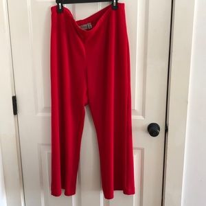 Red easy wear Chico's just great for the holidays